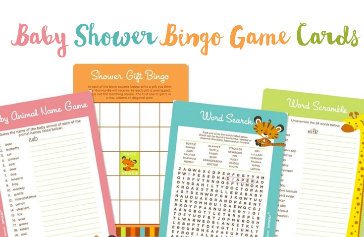 Baby Shower Bingo Game Cards