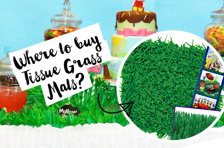 Where To Buy Green Grass Mats As Party Decoration